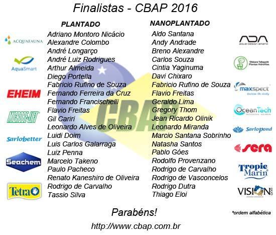 Finalistas CBAP 2016
